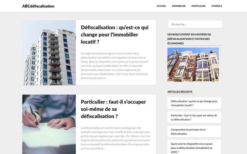 ABCdéfiscalisation - Le site pour tout savoir sur la défiscalisation