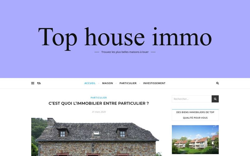 Top house immo - Trouvez les plus belles maisons à louer