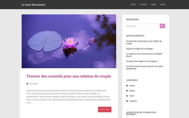 Le tarot divinatoire - Le site spécialisé dans le tarot divinatoire